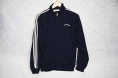 "Adidas Vintage Retro 90s ""Adidas"" D3 F162 Oldschool Jacket Stripes Navy Blue Sweater Tracksuit Wind Zip Jumper Tuta Felpa Taglia/Size S Size S $43 - Grailed"