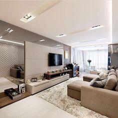 E o boa tarde de hoje é com essa linda inspiração de Sala de TV.❤️ Projeto: Formato D Arquitetura.