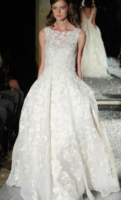 Oleg Cassini Tank Lace Beaded Wedding Dress 2: buy this dress for a fraction of the salon price on PreOwnedWeddingDresses.com