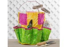 It doesn't take a green thumb to make a handy, multi-pocketed garden bucket tote! This insert fits inside a 5 gallon bucket. Keep all of your gardening tools and supplies close at hand as you move from place to place. Designed By: Joy McKeon Crafting Time: An evening Skill level: Intermediate Finished Project Size: Custom …