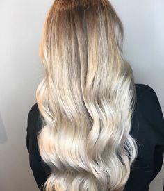 Crushing it on a #Saturday. Soft blend  Bright blonde  Hair by Keune artist @erinmacdhair .