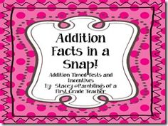 Addition Fact Memorization and Incentives