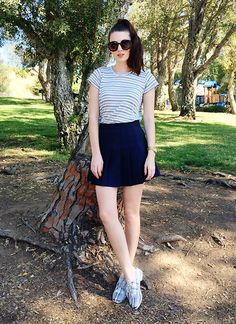 Jade Elise - Reformation Tee, Aa Skirt, Asos Shoes - Parks