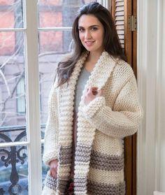 7b5120fe2208e Cozy Car Coat. Sweater Knitting PatternsLoom ...