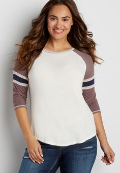 plus size football tee (original price, $26.00) available at #Maurices