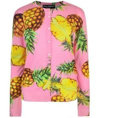 Dolce And Gabbana Pineapple Print Cardigan