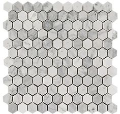Arabescato Carrara 1x1 Hexagon Honed
