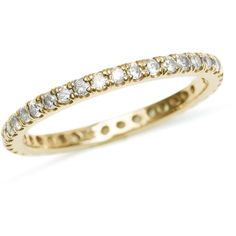 Diamond Eternity Ring in Yellow Gold (5.645 RON) ❤ liked on Polyvore featuring jewelry, rings, 14 karat gold ring, 14k ring, eternity ring, gold diamond jewelry and yellow gold eternity ring