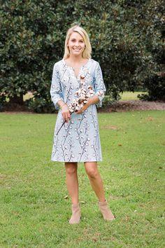 Elliotborough Tunic Dress I High Cotton print I Borough- Southern Dresses Made in Charleston, SC