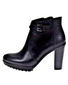 Roberto Botella Leather Heel Booties - Booties - Shoes at Viomart.com