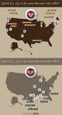 The 10 Most Coffee-Obsessed Cities In the U.S. Are
