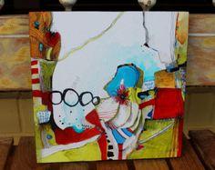 Gelassene zusammen mit surreal, wunderbar einfach Bio-Mischtechnik-Gemälde. Ich könnte diese Gemälde stundenlang anstarren und finden Sie neue Formen und Muster entstehen und ich hoffe Sie fühlen sich genauso. Klein genug zu nahezu jedem Raum passen, würde dieses Kunstwerk auch ein großes Geschenk oder Ergänzung Ihres Hauses machen.  Hinweis-Bild mit einer Vielzahl von Gemälden ist für Anzeigezwecke und Optionen verfügbar  Titel: Zen-Reise Größe: 8 x 8 auf 1/8 claybord Medium: Kugelschre...
