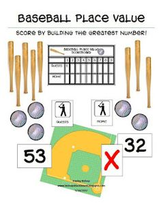 Baseball Place Value Game