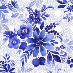 Синий и белый