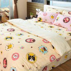 床包組-單人  [招財貓-米色]含一件枕套, 高透氣棉,Artis台灣製內容件數:薄床包x1+美式枕套x1 材質:20%棉80%極細纖維 產地:台灣 尺寸:單人