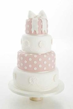 Polka dot and bow cake, £595, serves approx 120, by Anna Tyler