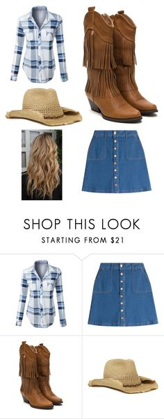 """""""Country style"""" by pineapple-life14 ❤ liked on Polyvore featuring LE3NO, HUGO, Nine West and country"""