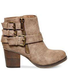 Madden Girl Wickerr Mid-Heel Buckle Booties - Booties - Shoes - Macy's #bootie