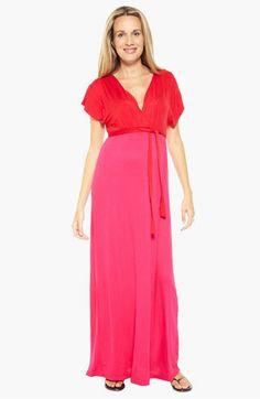 Nom maternity maxi dress