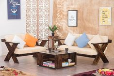 Buy Solid Wood New Crossia Sofa Set Online in India - Latest Sofa Designs Collection Wood Sofa, Solid Wood Furniture, Outdoor Furniture Sets, Buy Beds Online, Sofa Set Online, Latest Sofa Designs, Wooden Sofa Set Designs, Wood Online, Luxury Sofa