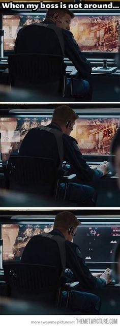 My favorite scene in the Avengers movie.