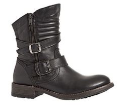 Duffy bikerstøvle, skind, sort -- 929,00 kr. -- Duffy, Biker, Boots, Fashion, Shoe, Crotch Boots, Moda, Fashion Styles, Heeled Boots