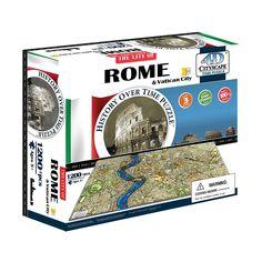 4D Cityscape Rome Time Puzzle, Multicolor
