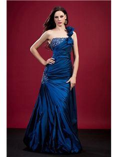 Mermaid One-Shoulder Floor-Length Polina's Evening/Prom Dress