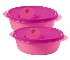 Tupperware: CrystalWave 2 1/2c. Bowl Set ~ PINK (online exclusive). I love the crystal wave and so much better in pink