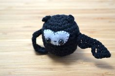 Black Bat Amigurumi Plushie - cute for Halloween :3