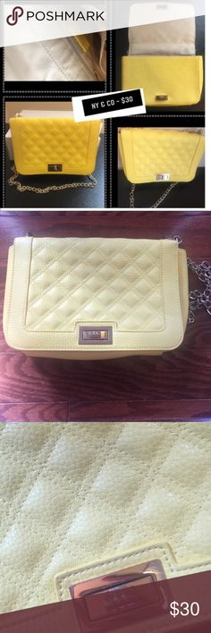 NY & Co. Yellow Quilted Handbag Great yellow quilted handbag. Never worn New York & Company Bags Shoulder Bags