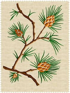 Pine #3 Embroidery Design