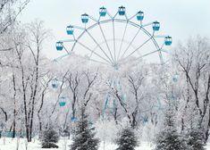 Winter Park In Siberia In Russia. Russia Landscape, Winter Landscape, Russia Pictures, Russia Winter, Siberia Russia, Fun Places To Go, Winter Park, Amusement Park, Park City