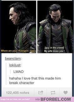 The Sentence That Made Tom Hiddleston Break Character…