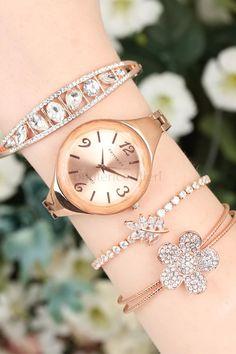 2 Yıl Garantili Metal Kordonlu Ferrucci Marka Bayan Saat Kombini Roz Gold Bracelet Watch, Watches, Bracelets, Accessories, Fashion, Moda, Wristwatches, Fashion Styles, Clocks