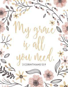 2 Corinthians 12:9~grace