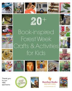 Book-inspired Forest Week Crafts & Activities for Kids Giveaways) Fun Activities For Toddlers, Learning Activities, Outdoor Activities, Toddler Preschool, Preschool Crafts, Green Crafts For Kids, Outdoor Learning, Forest School, Camping Theme