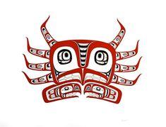 Neeka (Lloyd) Cook, an artist of Tlingit heritage sea theme 1 Native American Symbols, Native American Design, Native Design, American Indian Art, Native Drawings, Native Canadian, Crab Art, Indian Artwork, Haida Art