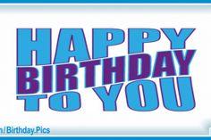 Very Simple Blue Happy Birthday Card