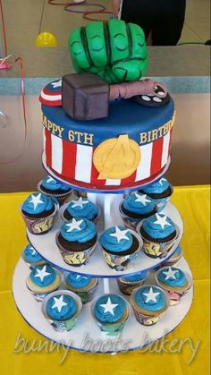 Avengers Cake - Bunny Boots Bakery - Oviedo, Fl