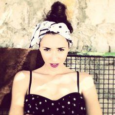 #summer #dianaenciu #sunglasses #sun #beach #fabulous #lips #red #scarf #moschino #dots #retro #miumiu #girl #swim
