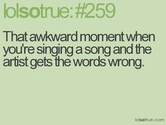 HAHAHAHA LOL Happens a couple of times :P Geez, what's up with these artist? xD