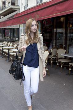 Blue Lapel Chiffon Shirt #choies #shirt #fashion