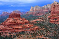 Bell Rock, aerial view. Red Rocks of Sedona AZ