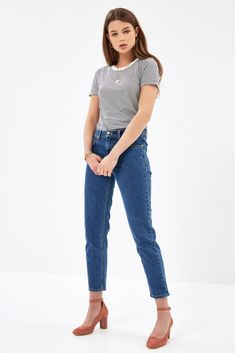 Jean Girl Friend bleu moyen
