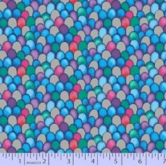 Marcus Brothers The Rainbow Fish 9752 0750 Silver Metallic Rainbow Scales $10.50/yd
