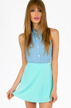 tobi. around the globe skirt. mint. #fashion