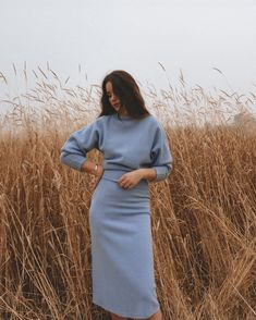 Simple Fall Outfits, Outfits Casual, Fall Winter Outfits, Modest Outfits, Modest Fashion, Autumn Winter Fashion, Cute Outfits, Fashion Outfits, Blue Skirt Outfits