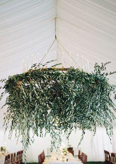 Olive branch chandelier: http://www.stylemepretty.com/2015/09/10/outdoor-western-australia-summer-wedding/ | Photography: Jose Villa - http://josevilla.com/