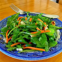 One Perfect Bite: Arugula and Carrot Salad with Walnuts and Cheese